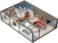 приточно вытяжная вентиляция в каркасном доме с рекуператором рисунок